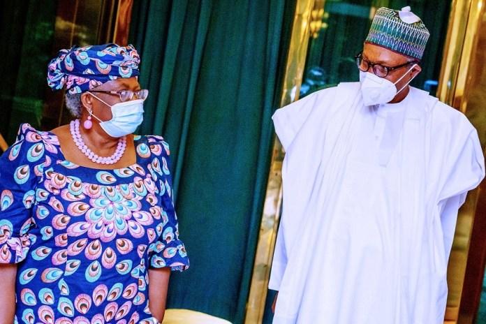 Ngozi Okonjo-Iweala and President Buhari