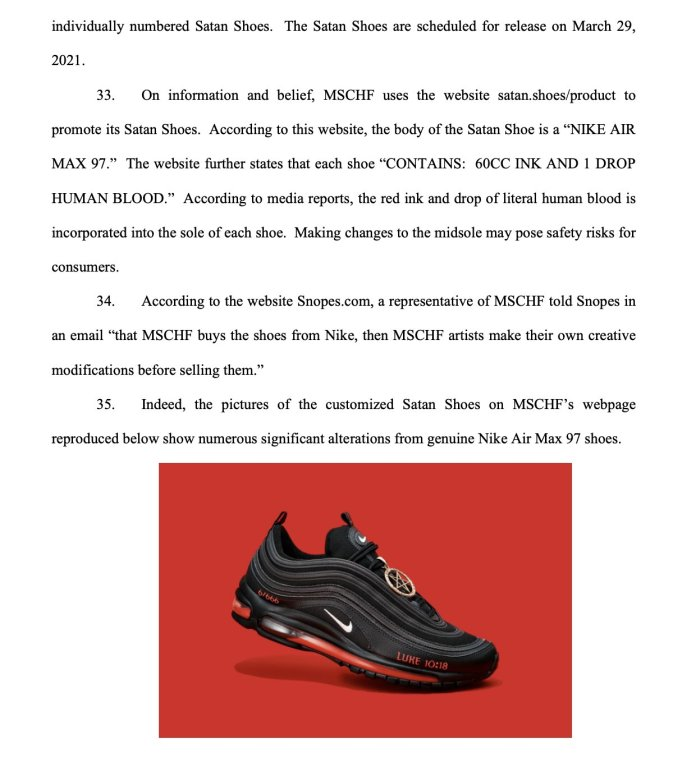 Nike To Sue MSCHF Over Lil Nas X 'Satan's Shoes'