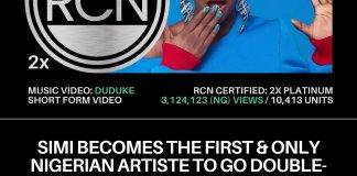 Simi Duduke Double Platinum