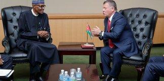 Buhari and King Abdullah ll Bin Al-Hussein of Jordan