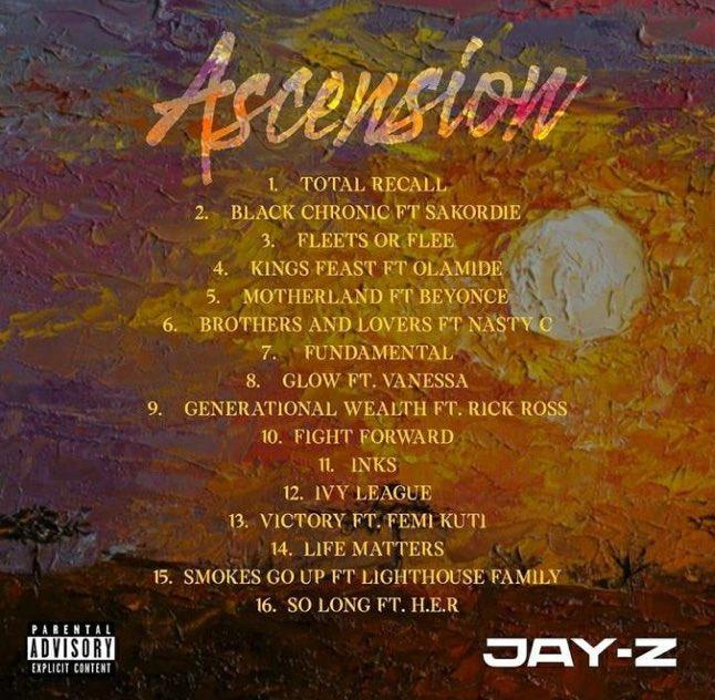 "Jay-z Set To Drop New Album ""Ascension"" Featuring Olamide, Sakordie, Femi Kuti, Nasty C"
