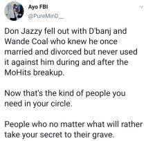 Nigerians Hail D'banj, Wande Coal, Mo Hits For Keeping Don Jazzy Marriage A Secret 6