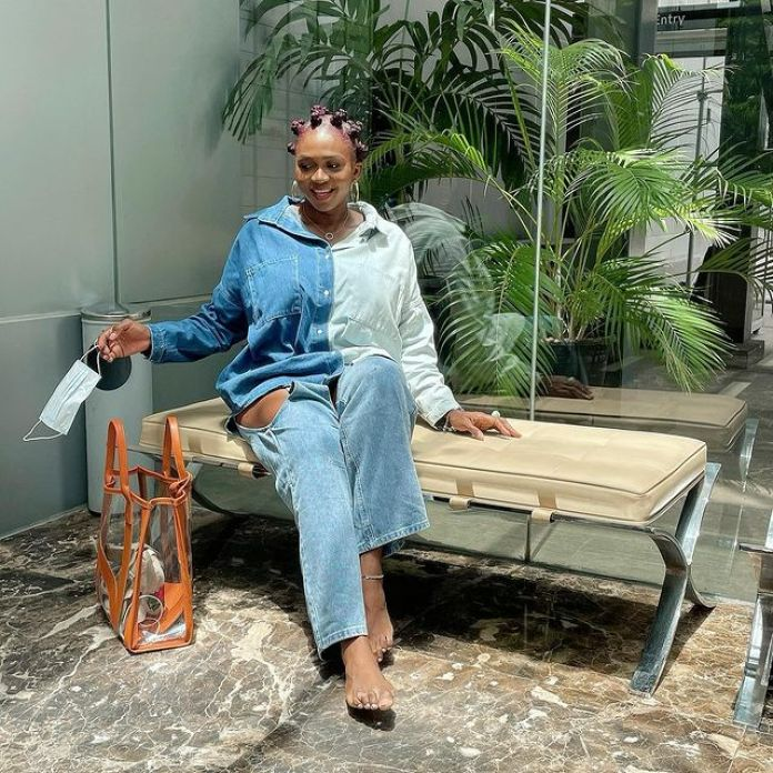 Waje Is Serving Ultra-chic Vibes In Denim On Denim Look