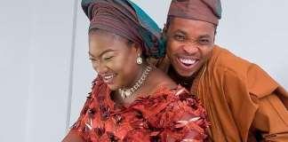 Woli Agba and wife Olaife on 4th wedding anniversary