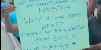 Osogbo youths protest EFCC arrests