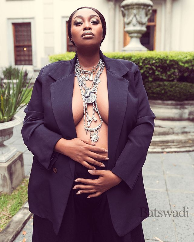Relebogile Mabotja Is Giving Us Baby Feels With Her Amazing Pregnancy Fashion