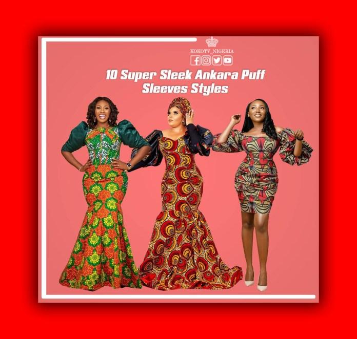 Ankara Styles Puff sleeves