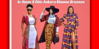 Ankara Maxi Kimono Dress KOKO TV NG 12