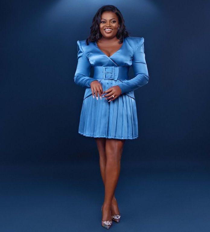 Blue Never Looked So Good!!!! Funke Akindele Is A Boss Lady