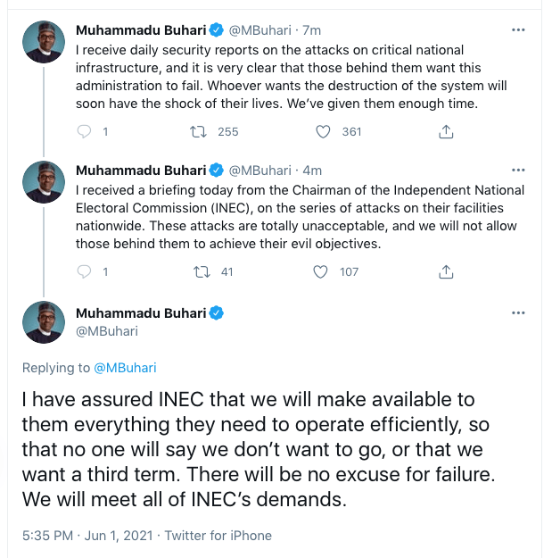 INEC Attack: We Have Given Them Enough Time - Buhari