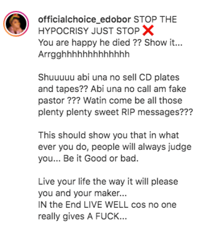 TB Joshua Dead: The People That Criticised Him Now Celebrating Him - Choice Slams 'Hypocrites'