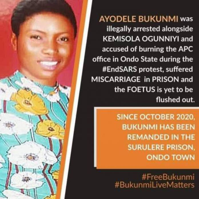 #EndSARS: Ayodele Bukunmi Who Lost Pregnancy In Detention Granted Bail After 9 Months