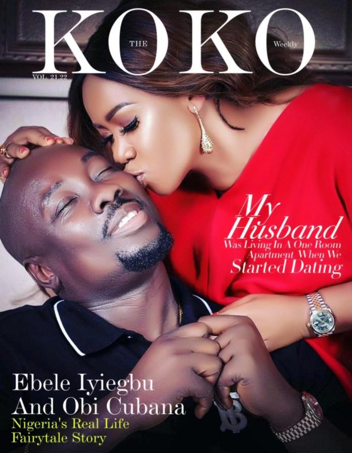 Ebele Iyiegbu and Obi Cubana KOKO Weekly magazine