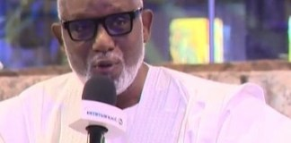 Governor Akeredolu at TB Joshua burial