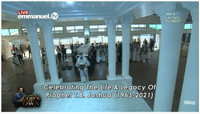 TB Joshua Burial: Prophet FINALLY Laid To Rest