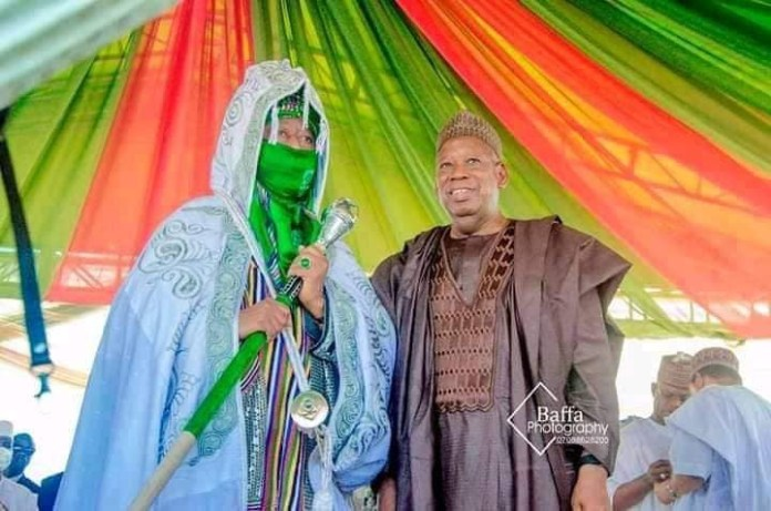 Ganduje Presents Emir Of Bichi Staff Of Office 2 Years After Appointment