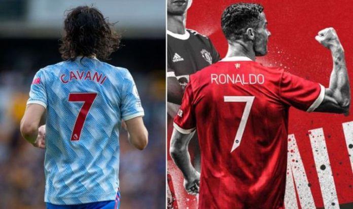 Cristiano Ronaldo and Edison Cavani