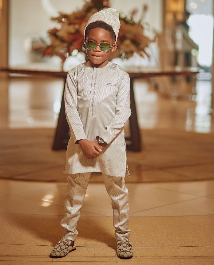 Tiwa Savage And Son Drip In Style As She Buries Father