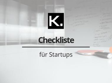 Checkliste für Startups