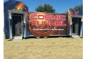 The COSMIC TUNNEL is a mind-blowing attraction, guaranteed to test your senses! This is a rotating tunnel that you walk though.