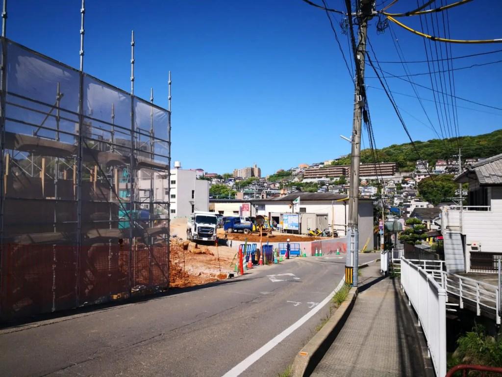 田上の住宅造成地