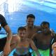 Flüchtlinge lernen Schwimmen in Roßdorf in der Schwimmschule Kokoro-Swimfit