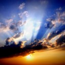 美しい朝焼けの画像