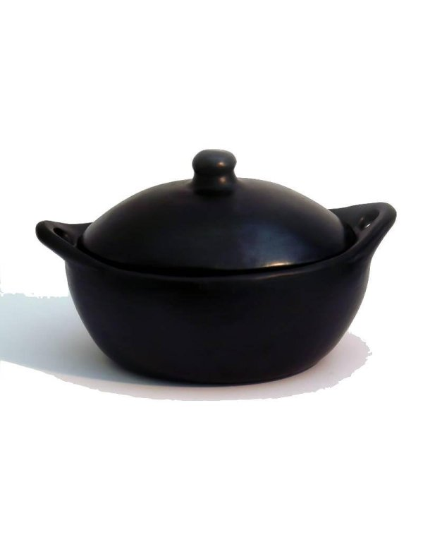 Black Pottery Ovale Kookpot 12-3