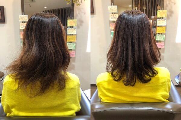 【箕面大阪】パーマをして広がる髪をまとまりやすく若く見える髪に