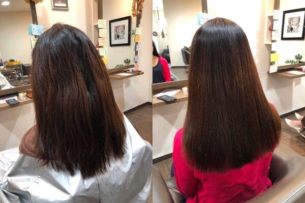 髪質改善縮毛矯正で根元も毛先も収まり良くなる【箕面 大阪】