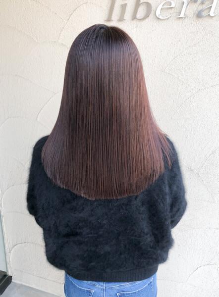 蛍池から縮毛矯正と艶髪オーダーメイドトリートメントでお手入れをしやすい髪に