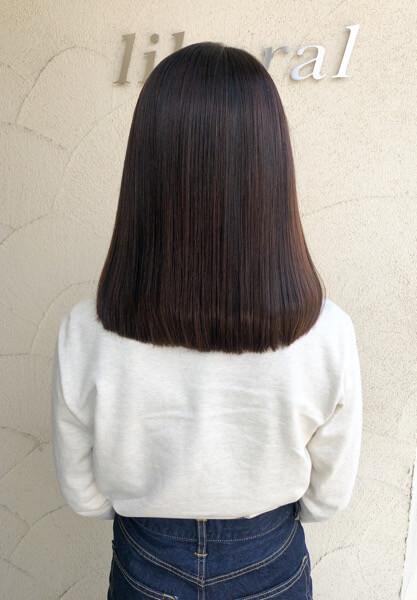 茨木市から毛羽立ちをおさえて乾かす時間を早くするためにカラーとトリートメントでご来店
