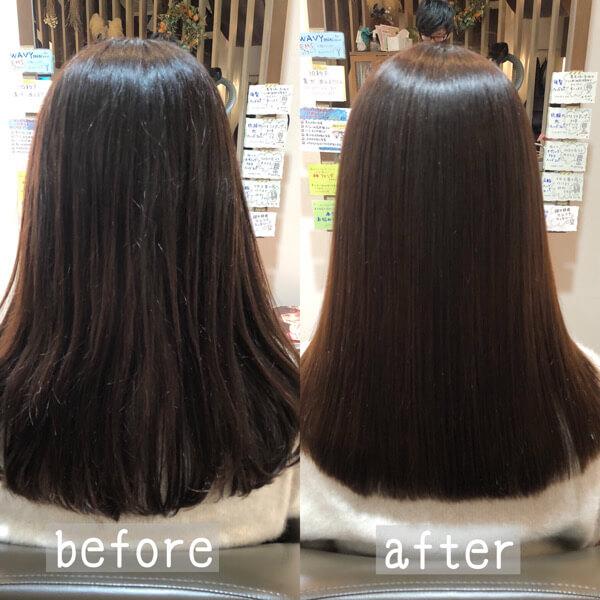 茨木から髪質改善縮毛矯正で韓国風艶髪に【箕面 大阪】