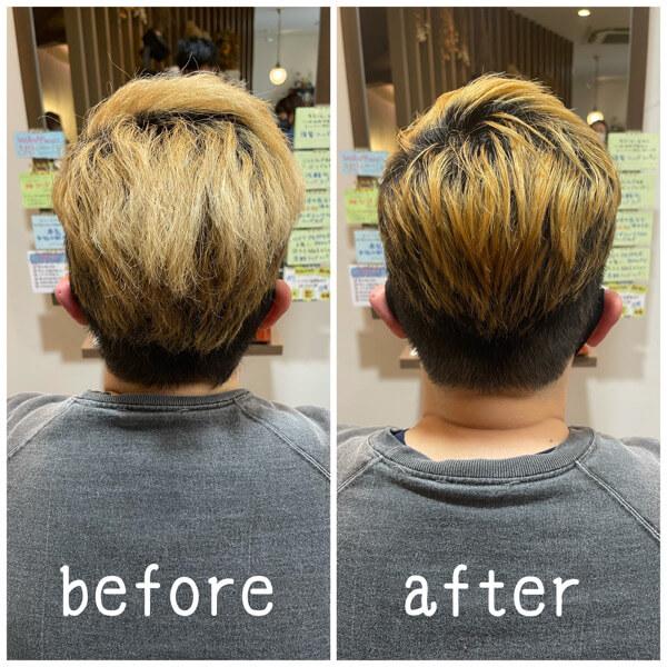 ブリーチ毛に國分オリジナル髪質改善酸性縮毛矯正でお手入れ簡単に【箕面大阪】