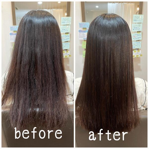守口から髪質改善酸性縮毛矯正とビビり修正でご来店【箕面 大阪】