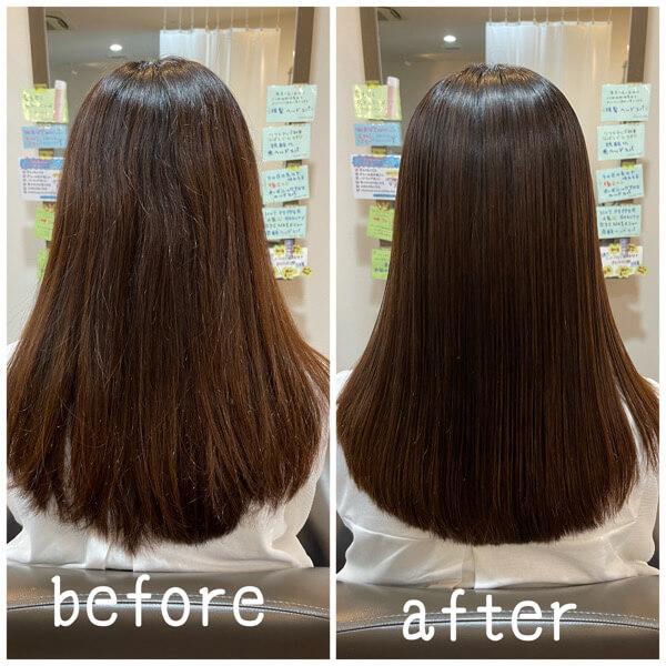 池田から髪質改善酸性縮毛矯正でサラサラに【箕面 大阪】