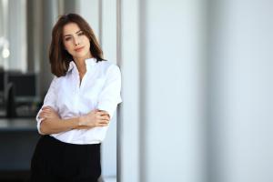 清潔感があふれる外国人女性