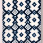 2015 藍染絞綿飾布 340×110