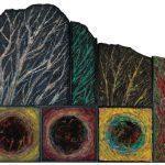 <森と水と時間(forest,water and time )> 255×315cm