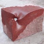 65×90×50cm 赤御影石
