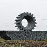 70×150×30cm 石(白御影石)