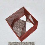 180×160×160cm 鉄、エキスパンドメタル