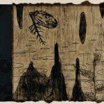 木版・銅版・落ち葉の紙に雁皮刷り ( 90cm X 108cm)