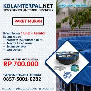 Harga paket kolam terpal Murah Paket budidaya 3 unit a