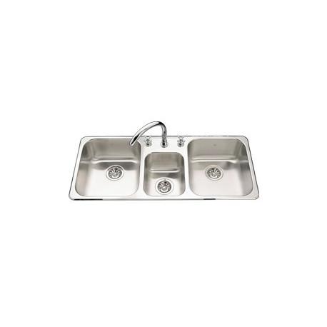 kindred qtcm1841 triple bowl sink 20 gauge