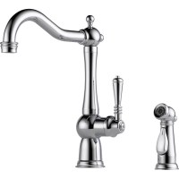 Buy Brizo 61136LF Single Handle Kitchen Faucet with Spray ...