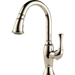 Commercial Pull Down Kitchen Faucet Black Knobs Buy Brizo 63003lf Single Handle Pull-down ...