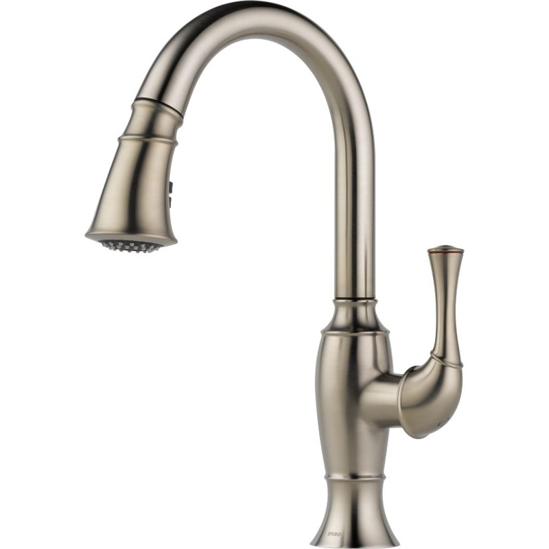 delta pull down kitchen faucet cabinets brands buy brizo 63003lf single handle pull-down ...