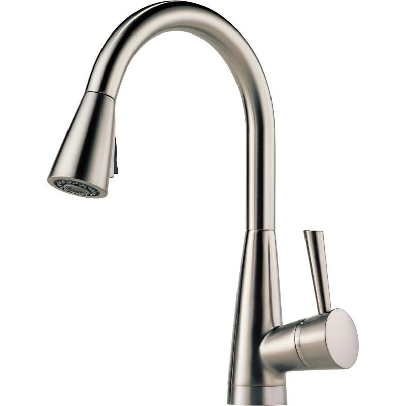 Buy Brizo 63070LF Single Handle PullDown Kitchen Faucet