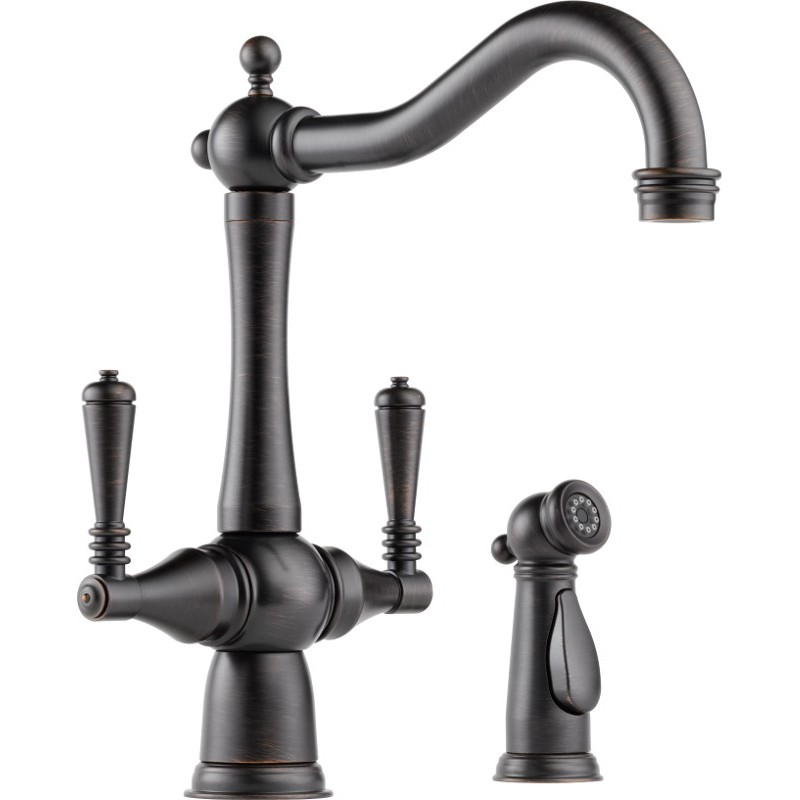 american standard kitchen faucets commercial ceiling tiles buy brizo 62136lf two handle faucet with spray at ...